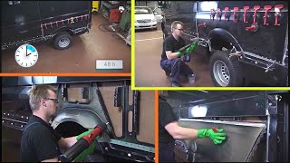 MercedesBenz Sprinter  Sidewall part repair : Installation of new part | W900, W906