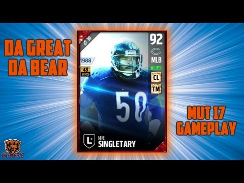MUT 17 NEW LEGEND REVIEW | MADDEN 17 MIKE SINGLETARY | ULTIMATE TEAM GAMEPLAY