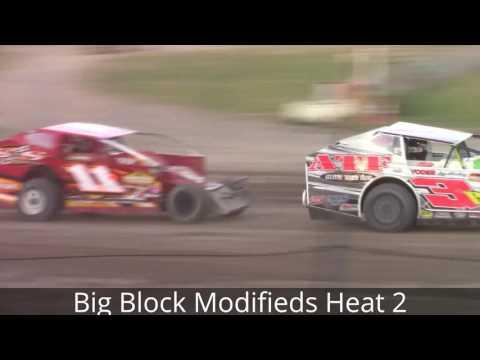 Ransomville Speedway Super Dirt Car Series Big Block Modified Heat Races 8-2-16