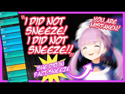 Aqua Denies Sneezing and Unleashes a Flood of Super Chats [ENG]