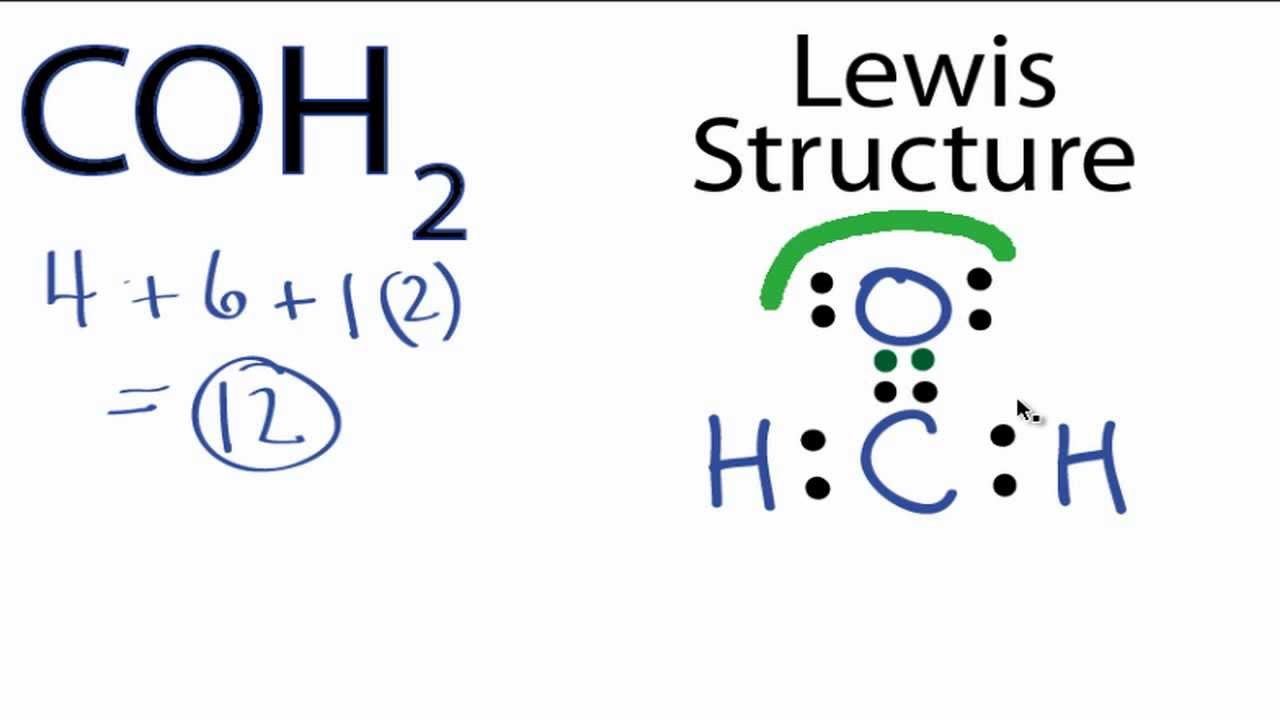 coh2 lewis structure how to draw the lewis structure for coh2 [ 1280 x 720 Pixel ]