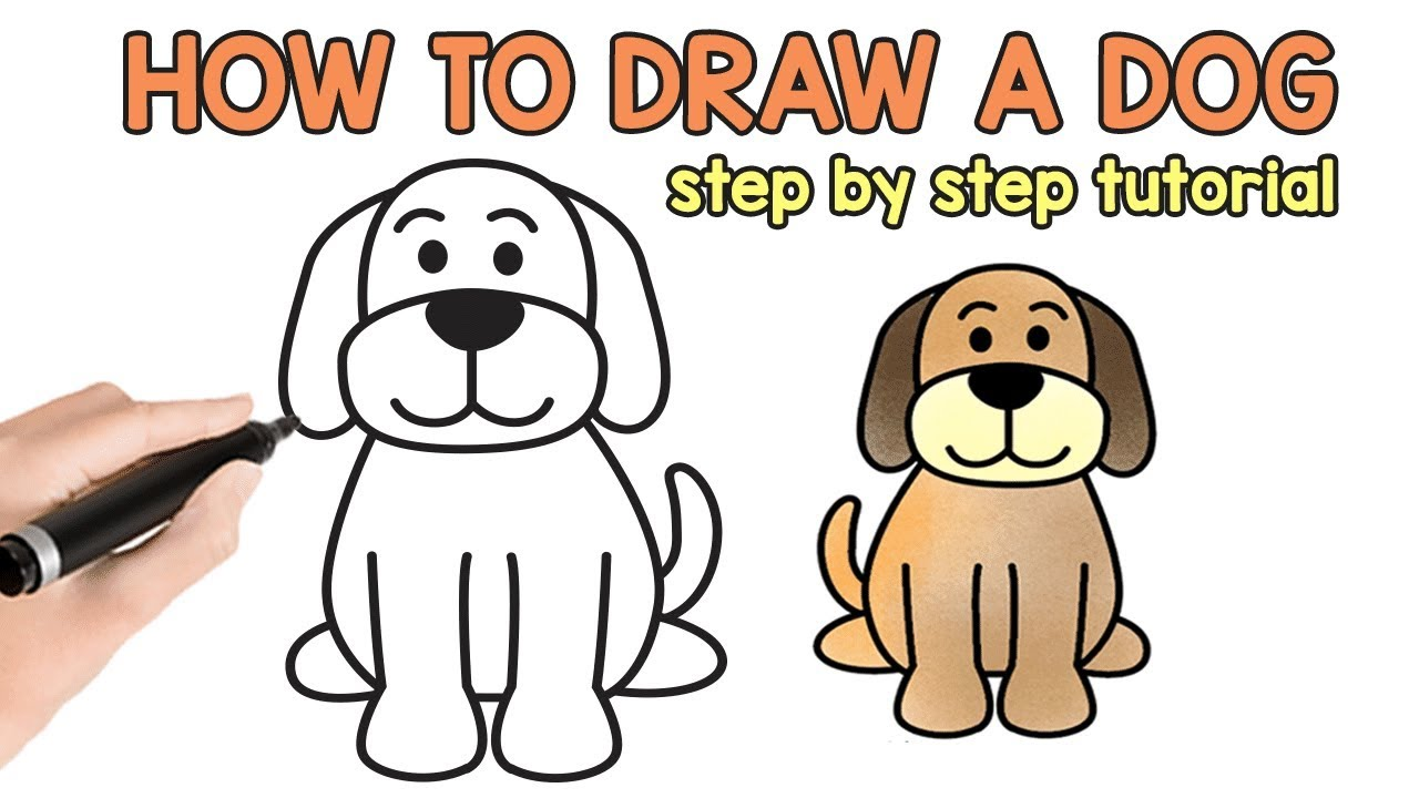 Learn How To Draw A Dog Step By Step Drawing Tutorial Youtube