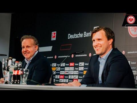 Pressekonferenz mit Markus Krösche und Philip Holzer