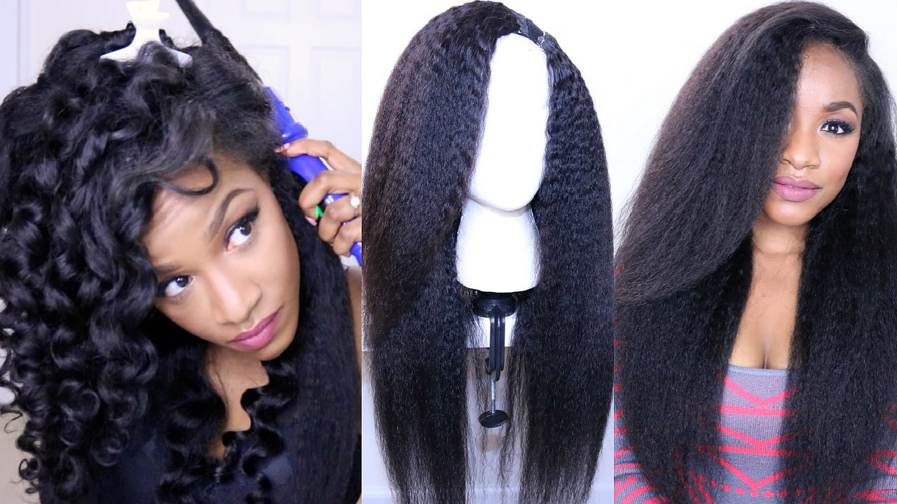 How to Style Kinky Straight Hair?DIY Hot Glue Gun Wig (BestLaceWigs ...