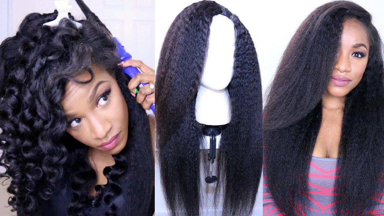 style kinky straight hair diy