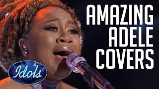 Top 5 Best Adele Hello Covers On Idols | Live Performances From La'Porsha Renae & More