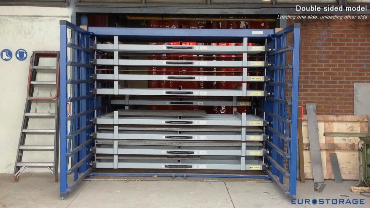 Double-sided horizontal storage rack & Double-sided horizontal storage rack - YouTube