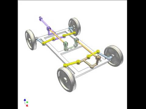 Mechanism for steering a 4-wheel trailer with small turning radius 3