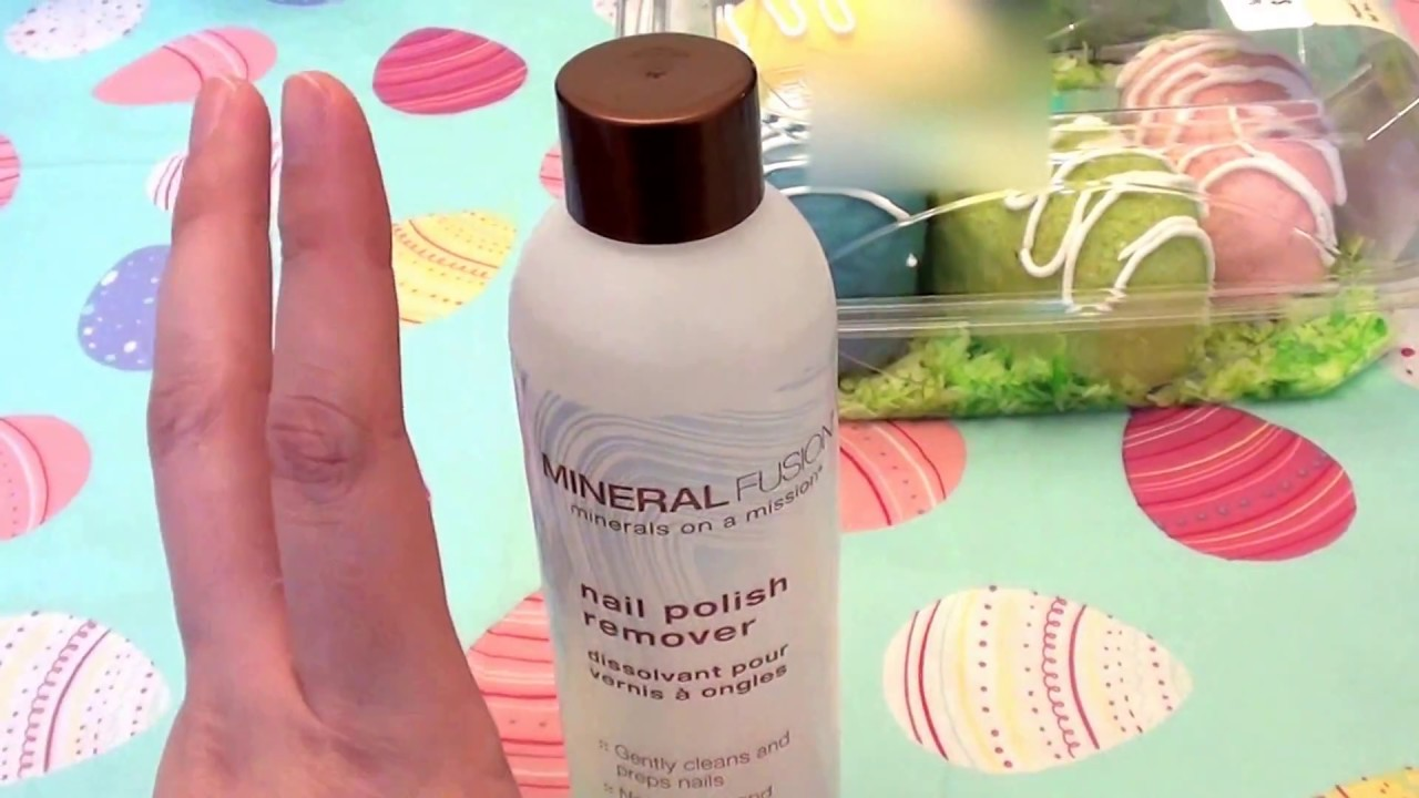 Mineral Fusion Nail Polish Remover REVIEW... CRUELTY FREE.. acetone ...