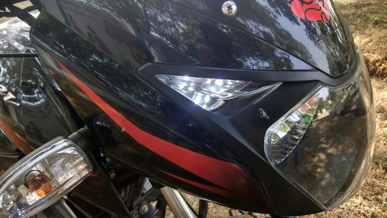 Bike Led parking light change - YouTube