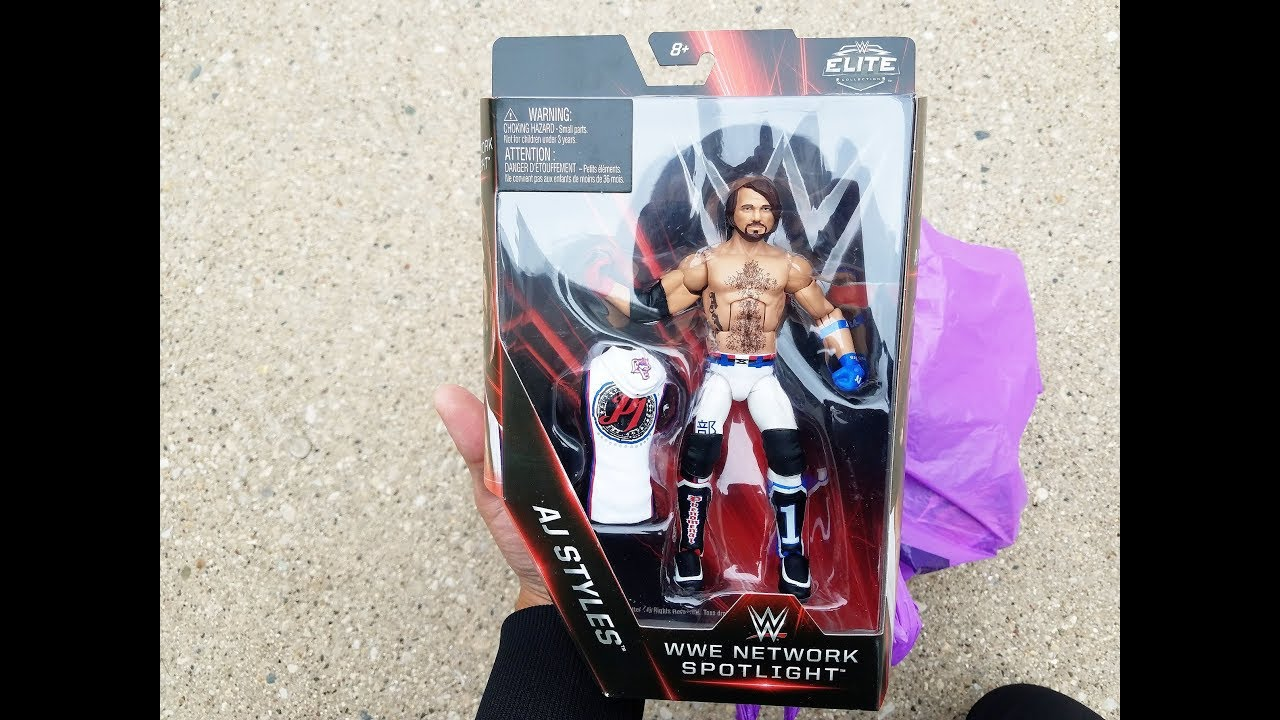 Gut WWE AJ STYLES NETWORK SPOTLIGHT FOUND!! TOY HUNT