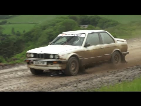 Cheap oversteer! The BMW 325i rally test day. A shambles.  CHRIS HARRIS ON CARS
