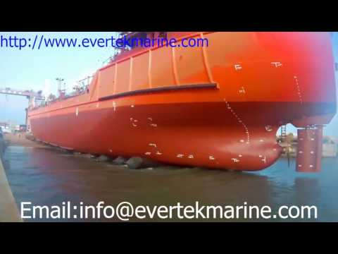 Evertek ship launching airbags - marine airbag - salvage airbag - lifting airbag