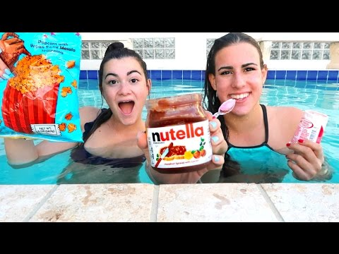 Thumbnail: TRYING FOOD UNDERWATER?! Vlognukkah Day 2
