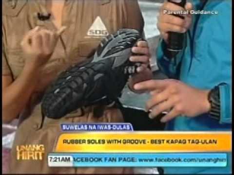 Sandugo Sandals - Unang Hirit, July 27, 2011: Slip Proof Footwear