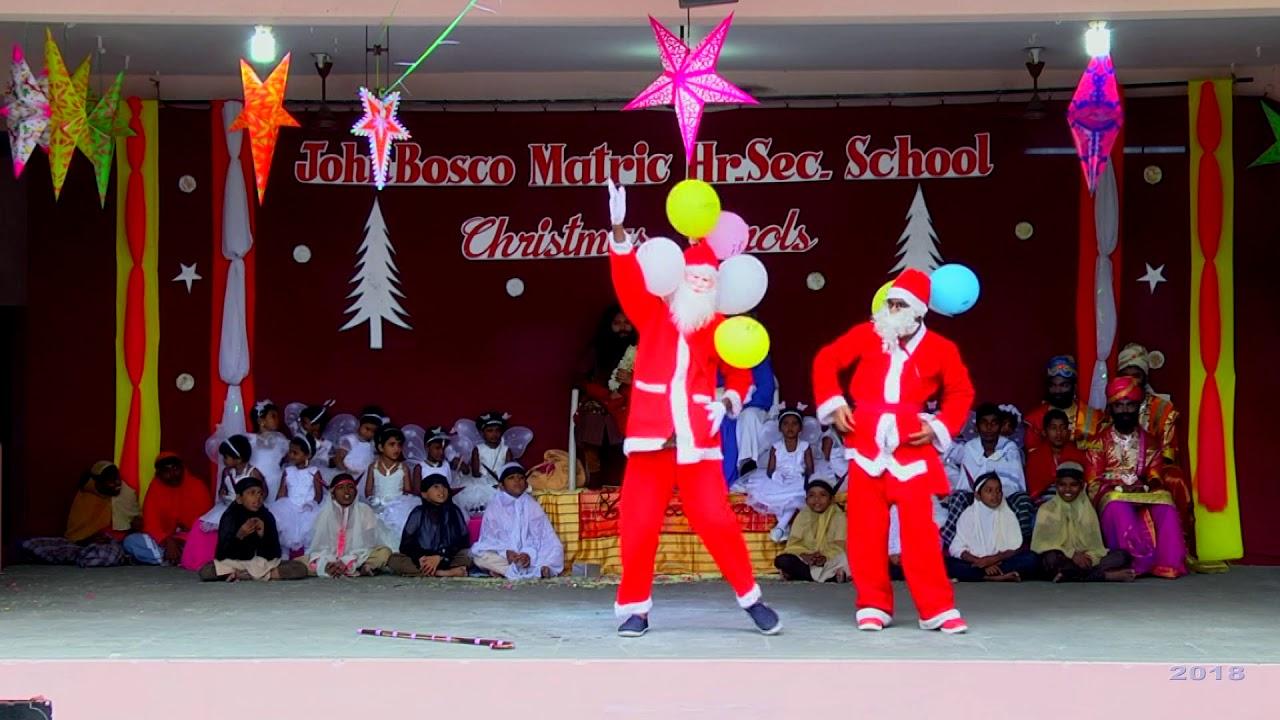 John Bosco School,Kovilpatti Christmas Carol Arrival of Santa Class
