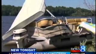 2 hurt in Lake Allegan 2-boat crash