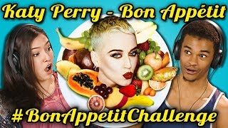 TEENS REACT TO KATY PERRY - BON APPETIT (#BONAPPETITCHALLENGE)