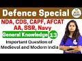 Defence Special General Knowledge by Shipra Ma'am |Day #13| Important Question of  Modern India
