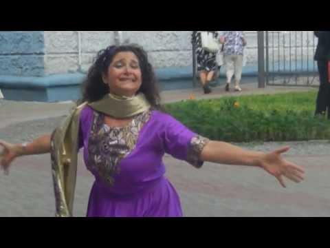 Liora Ziet dances in Israeli Street Festival in Mogilev, Belarus