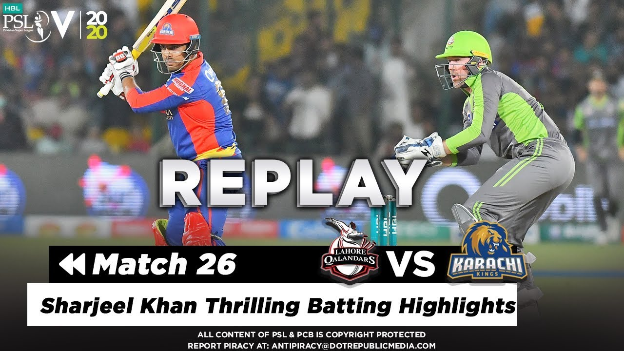 Sharjeel Khan Thrilling Batting Highlights Against Lahore | Lahore vs Karachi | Match 26 | PSL 5