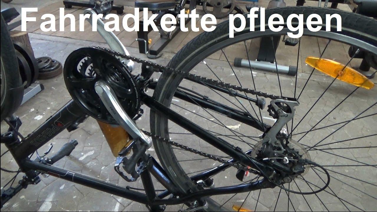 fahrradkette reinigen und schmieren kette am fahrrad putzen und len youtube. Black Bedroom Furniture Sets. Home Design Ideas