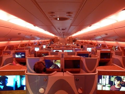 Emirates A380 business class Dubai to Sydney