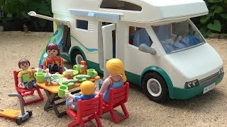 Cars toy videos for children - Playmobil Family Summer Camper - toy for kids