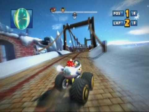 Sonic & Sega All-Stars Racing (PS3 Demo) - Rampart Road (Blizzard Castle) - Eggman - Expert - 1st