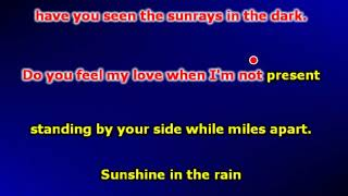 Sunshine In The Rain (Karaoke)