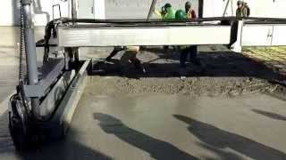 Audi Porsche Dealership concrete slab.