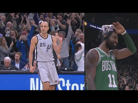 Manu Ginobili Game Winner 40 Years Old vs Celtics! 2017-18 Season