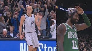 Manu Ginobili Game Winner 40 Years Old vs Celtics! 2017-18 Season