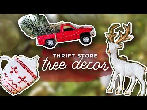 TURNING JUNK INTO CUTE TREE ORNAMENTS | THRIFT FLIP