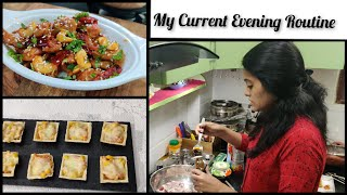 Thursday Vlog/Evening Snacks Sweet Corn Canapes/Colourful Night Dinner/Enjoyed With Snacks & Dinner