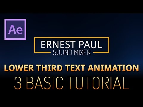 After Effects Tutorial - lower third text animation 3 (very basic)