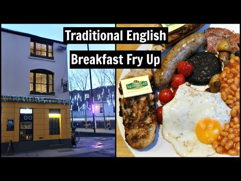 Traditional English Breakfast Fry Up | Oxford Travel Vlog