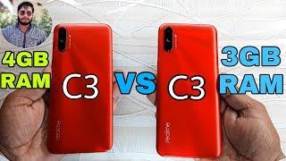 Realme C3 (4GB) RAM vs Realme C3 (3GB) RAM Speed Test Comparison?