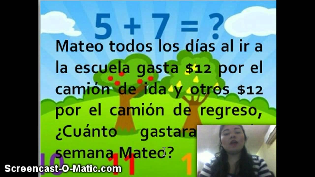 Problema Matematicas Tercer Grado Youtube