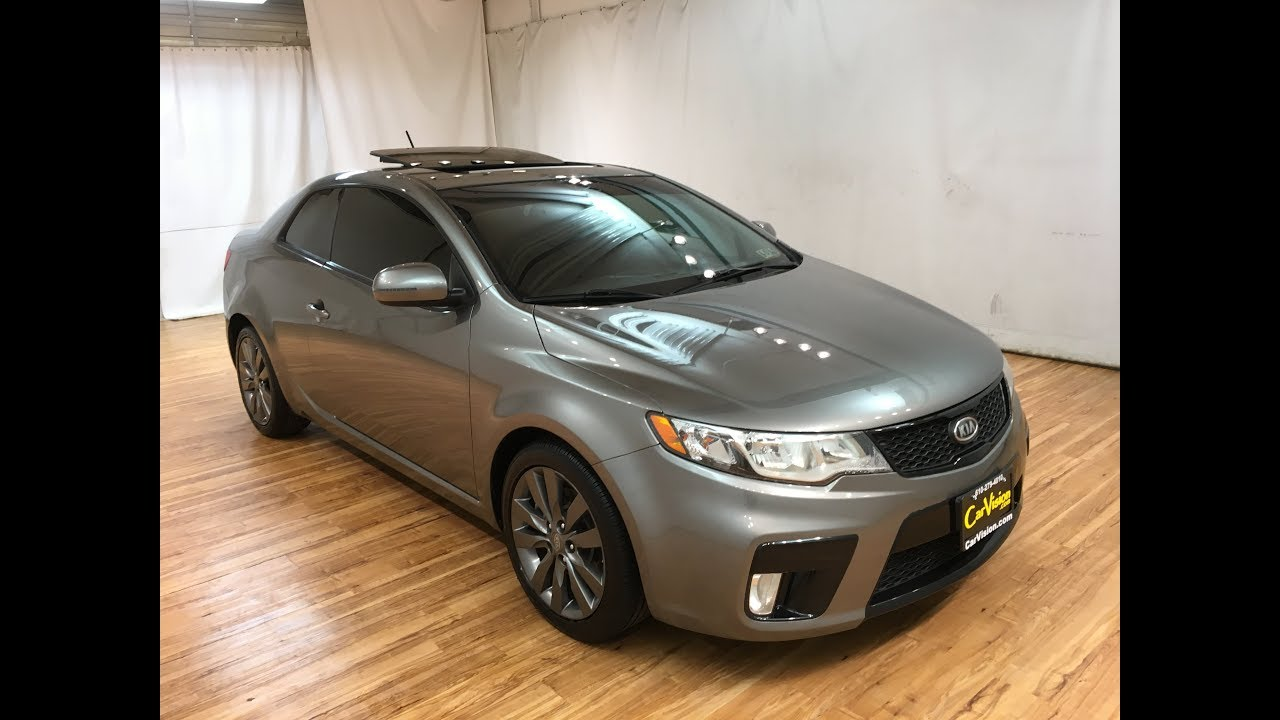 Lovely 2011 Kia Forte Koup SX 6 SPEED MOONROOF #Carvision