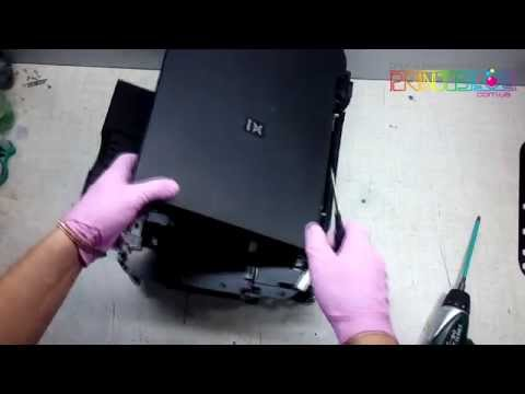 cannon mp270 how to clean ink asborbers