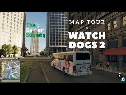 Watch Dogs 2: Tour of Map - Silicon Valley to Oakland to Sausalito to San Francisco - Nudle Bus
