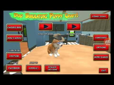 Dog Simulator:Puppy Craft 1.rész Szétzúzunk mindent :D