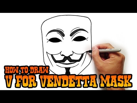 How to Draw V for Vendetta