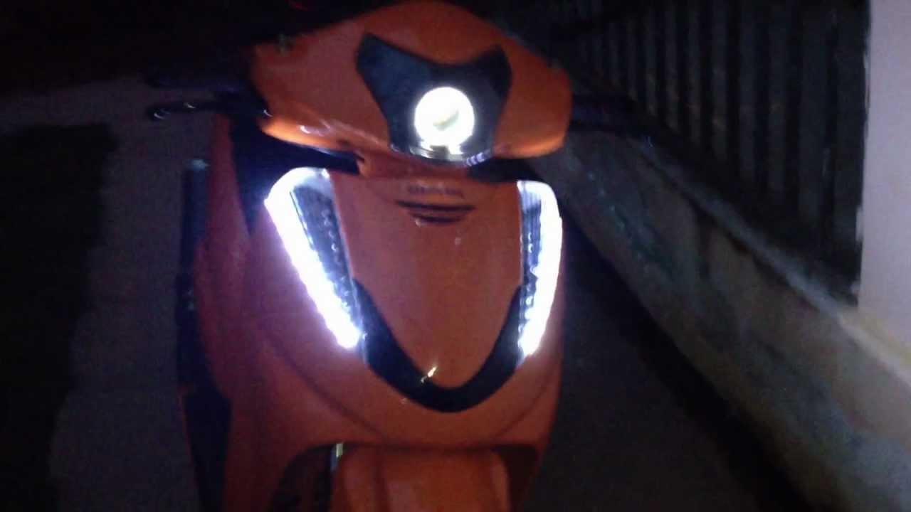 Sh300 Honda Tuning Led Xenon Angel Eyes Youtube