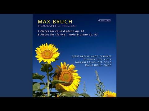 8 Pieces For Clarinet, Viola And Piano, Op. 83: VI. Nachtgesang. Andante Con Moto