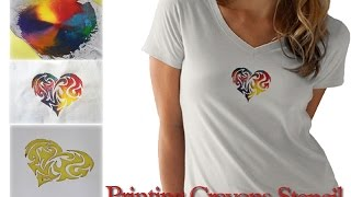 How to print t-shirts with Crayons using CUTART Stencil Cutter