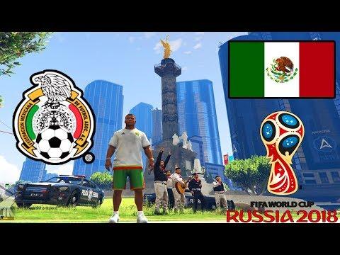 "GTA 5 MEXICO 🇲🇽| ""Mundial Rusia 2018"" !Festejando Selección Mexicana! (Ángel De Independencia)"