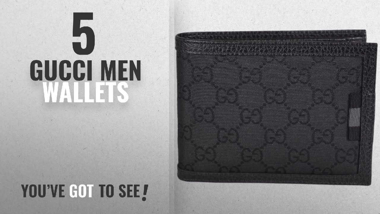 37971da56d04 Top 10 Gucci Men Wallets [ Winter 2018 ]: Gucci Men's Smooth Canvas ...