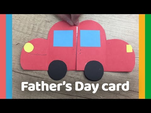 Father's day DIY Gift -  Car gift card easy to do with kids